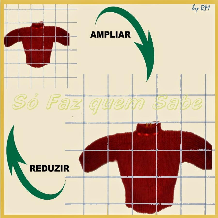 Método das malhas quadriculadas para ampliar ou reduzir desenhos.