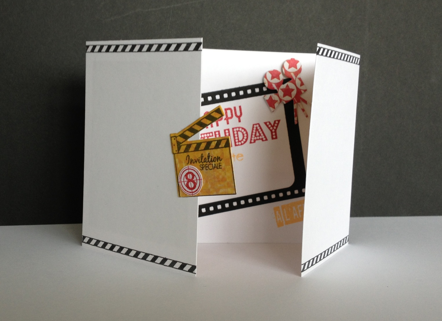 carte anniversaire theme cinema