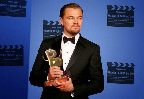 DiCaprio recoge su premio Toto y Alfredo