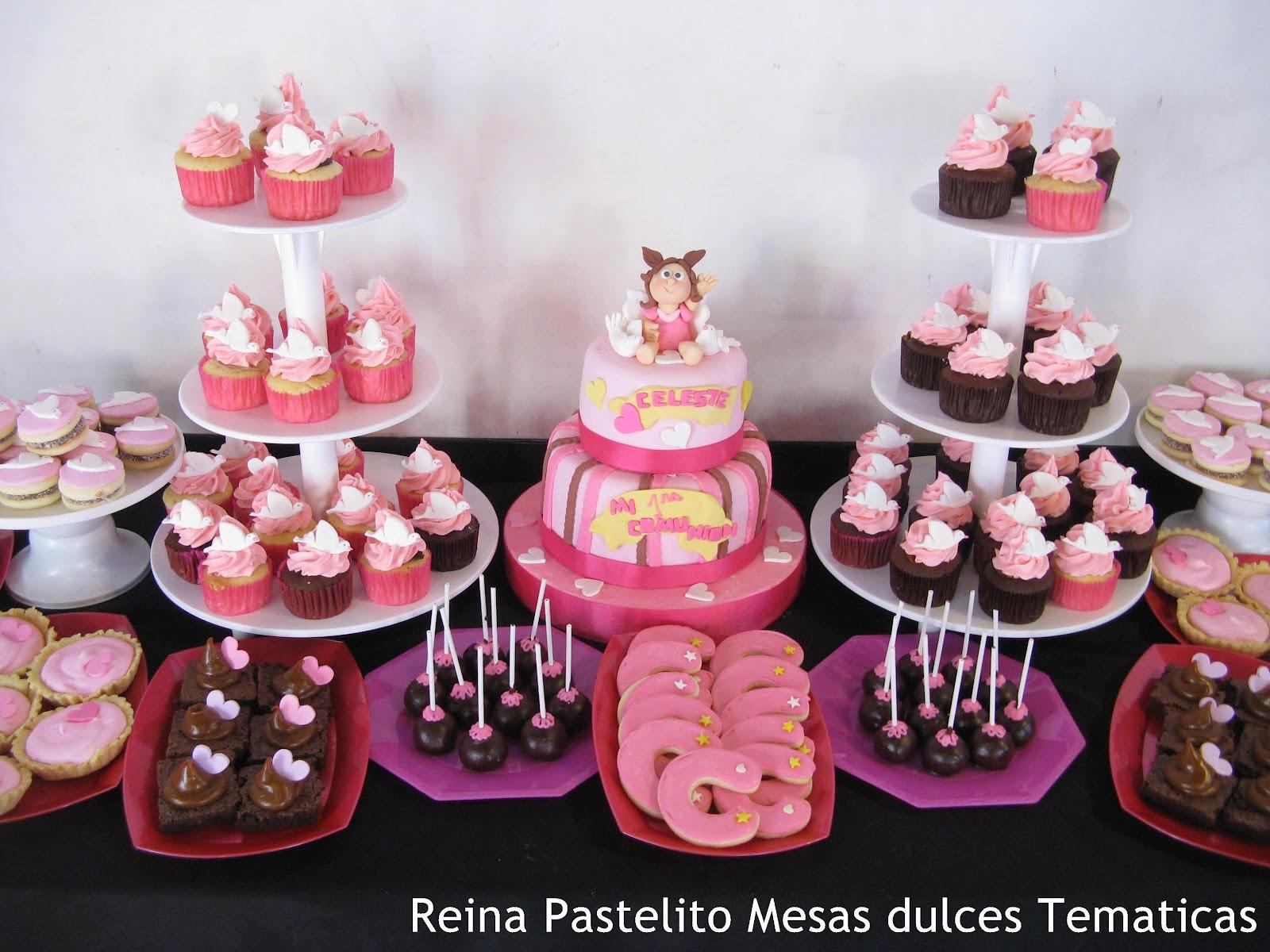 Reina pastelito cupcakes tortas mesa dulce tematica de for Mesa dulce para bautismo
