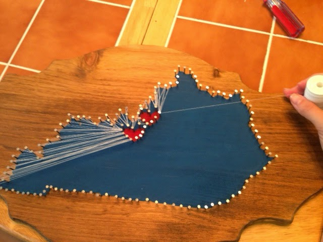 Young Wife Of Stripes Kentucky State String Art