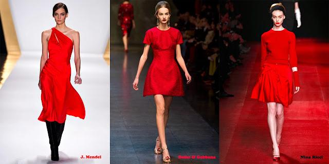 Tendencias mujer otoño/invierno 2013/14 color rojo