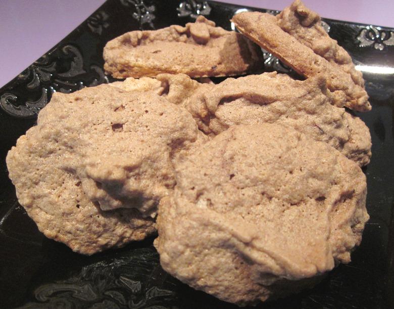 meringues biscuitées sans gluten amandes chocolat