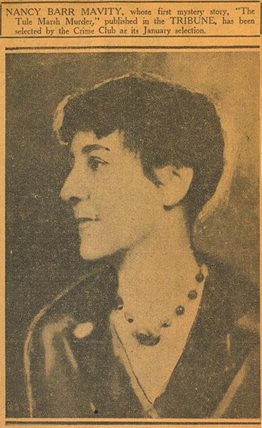 Nancy Barr Mavity