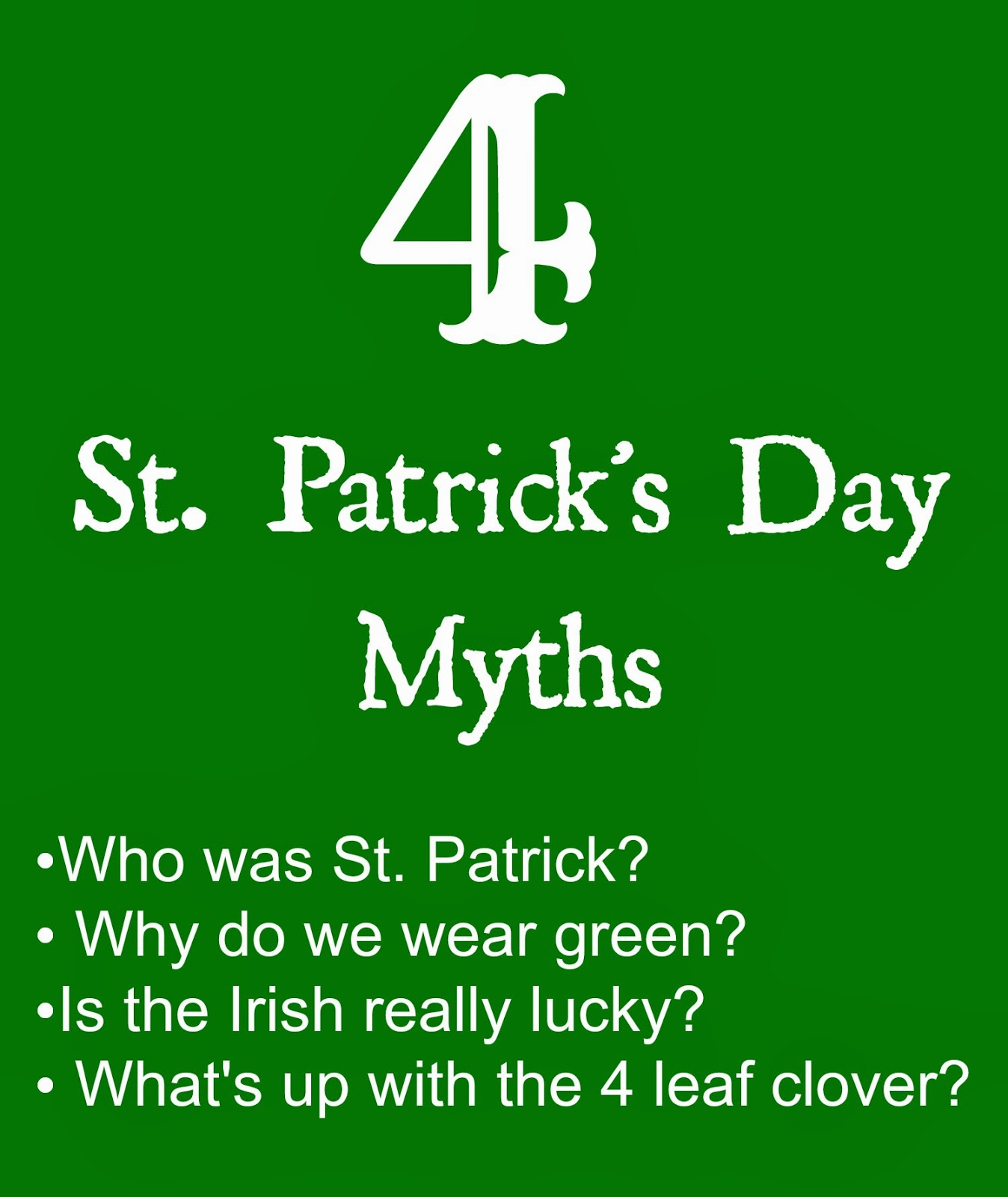 St. Patrick's Day Myths