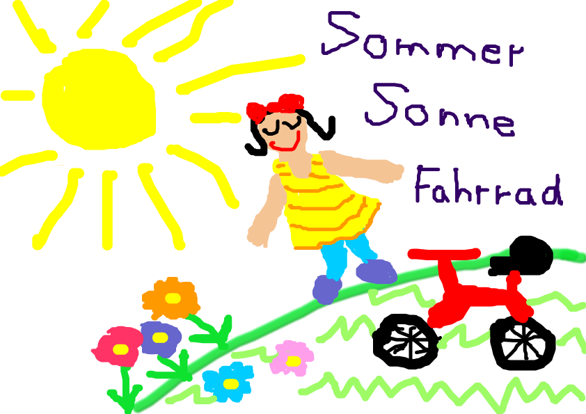Sommer, Sonne, Fahrrad