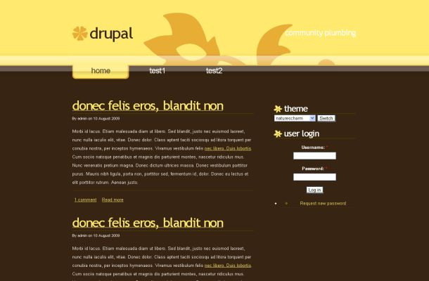 Yellow Brown Business Free Drupal Theme Template