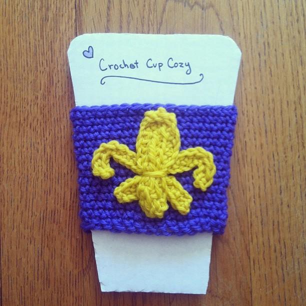Anna Knits Etc Anna Crochets Fleur De Lis Cup Cosy