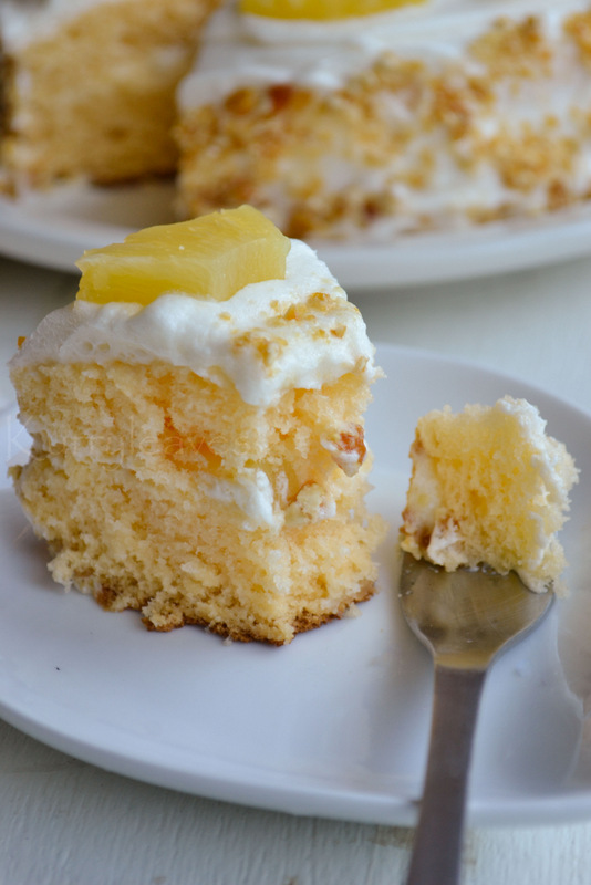 Pineapple Layer Cake | Recipe with step by step pictures | kurryleaves