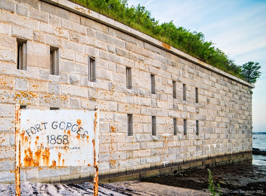 Fort Gorges in Portland, Maine Casco Bay Harbor Summer July 2014 Photo by Corey Templeton