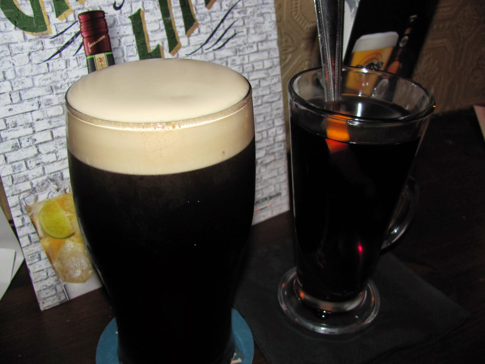 Beamish Stout and Hot Port in Cork, Ireland