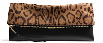 Large leopard print clutch worn by One Tree Hill's star Sophia Bush