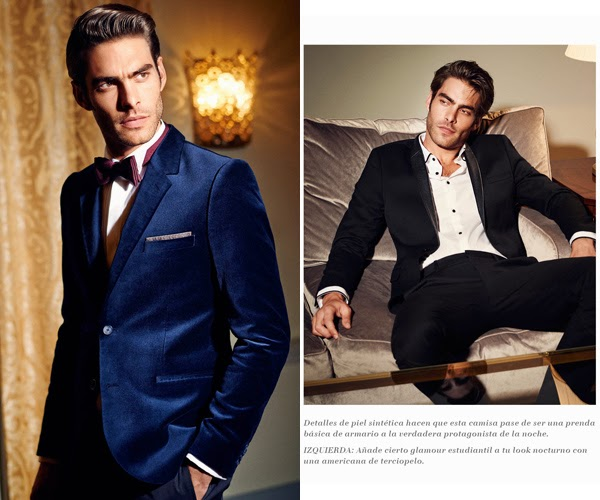 H&M hombre americana terciopelo traje negro esmoquin