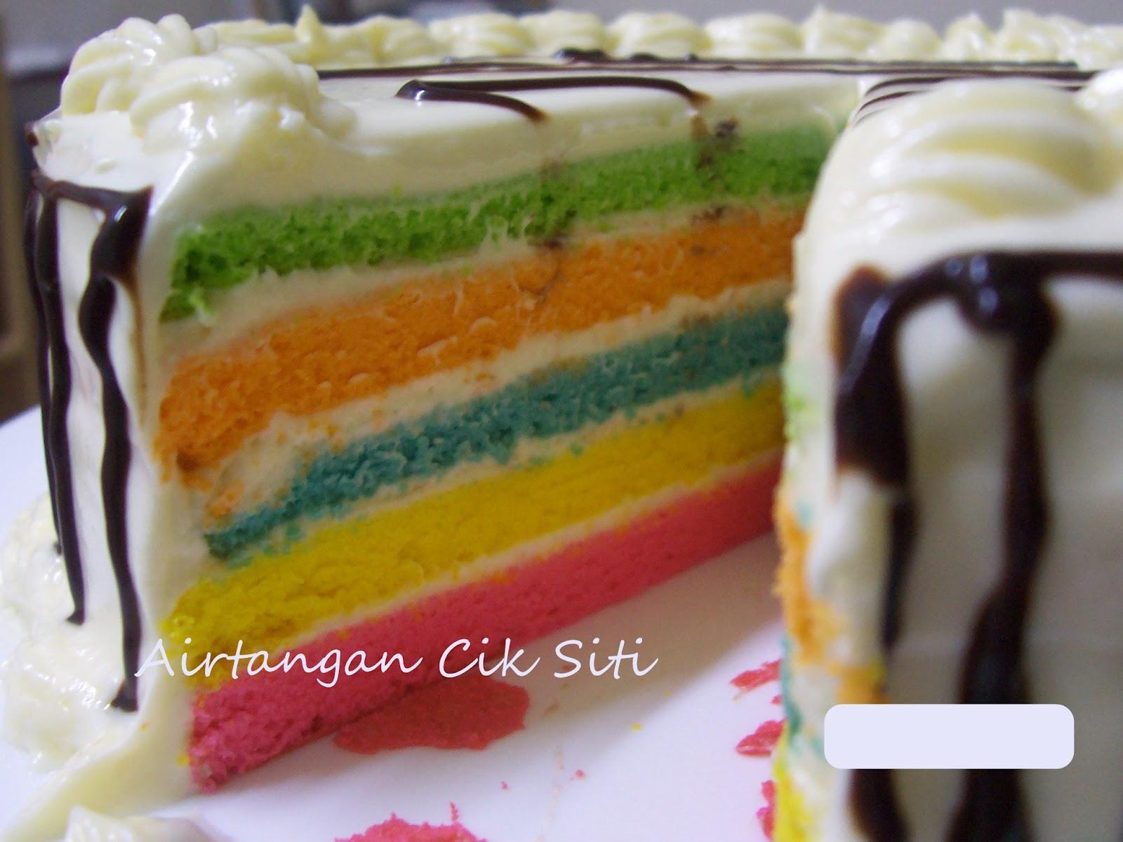 Airtangan Cik Siti: Rainbow Cake lagi