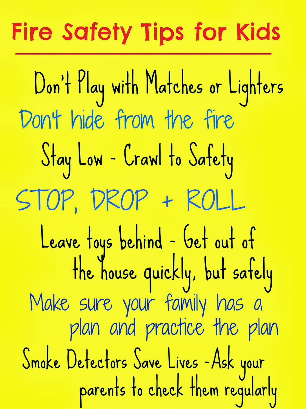 The good long road fire prevention week fire safety tips for Fire prevention tips for home