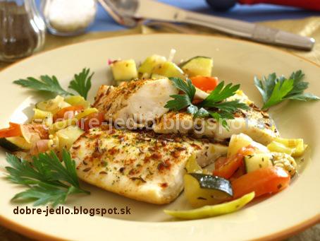 Ryba na rasci s chrumkavou zeleninou - recepty
