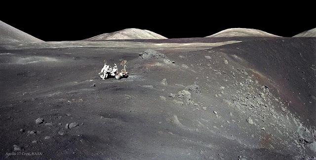 Apollo 17 và miệng núi lửa Shorty. Tác giả : Phi hành đoàn Apollo 17, NASA.