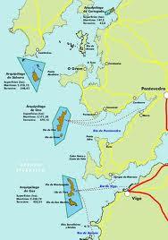 Islas Cíes mapa de como llegar a las islas