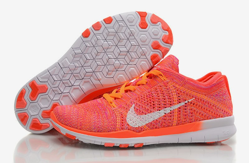 2014 Latest Nike Free TR FIT 50 Womens Running Shoes Gray Orange