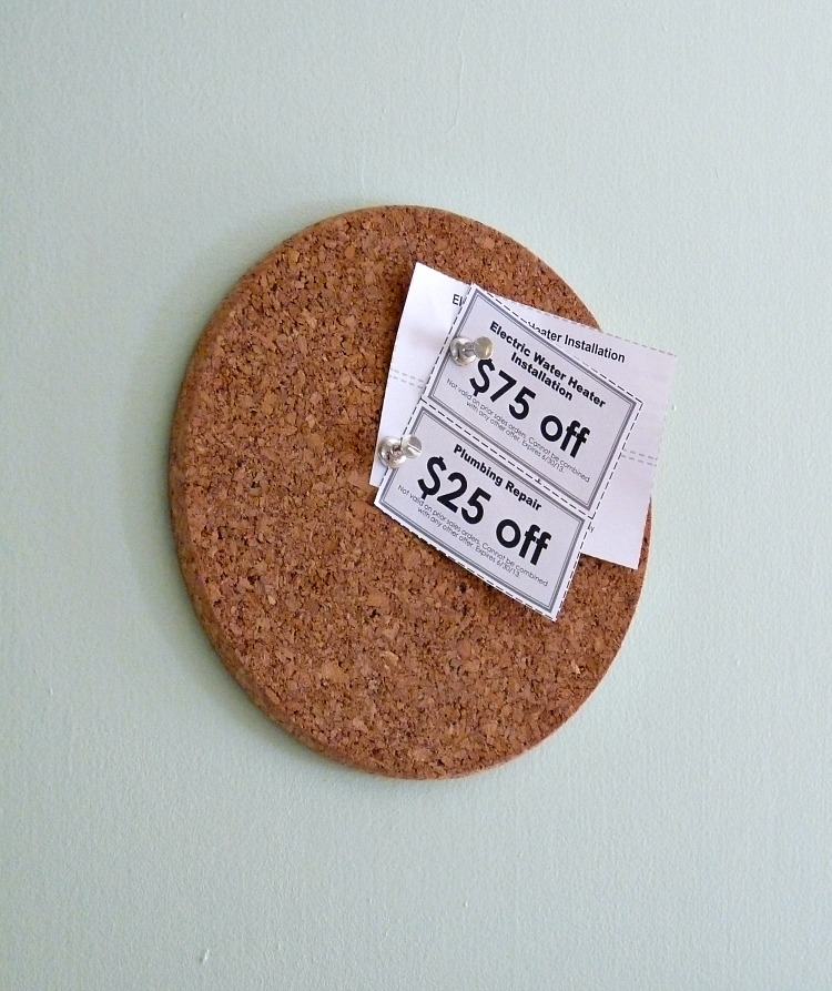 Mini corkboard DIY