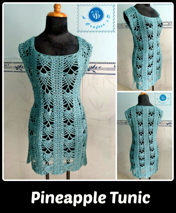 Free Crochet Patterns For Tunic Tops : pineapple tunic