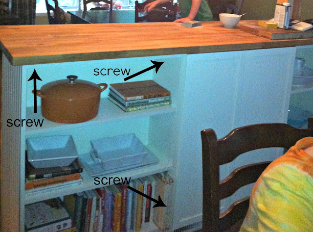 Golden Boys And Me Bookshelves Turned Kitchen Island Ikea