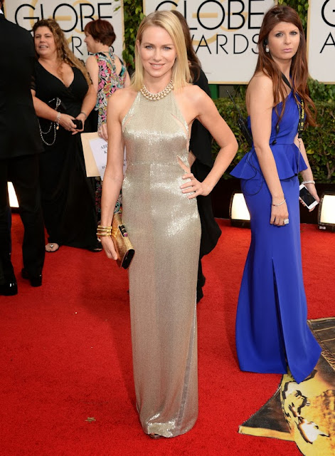 Naomi Watts in Tom Ford at the Golden Globes