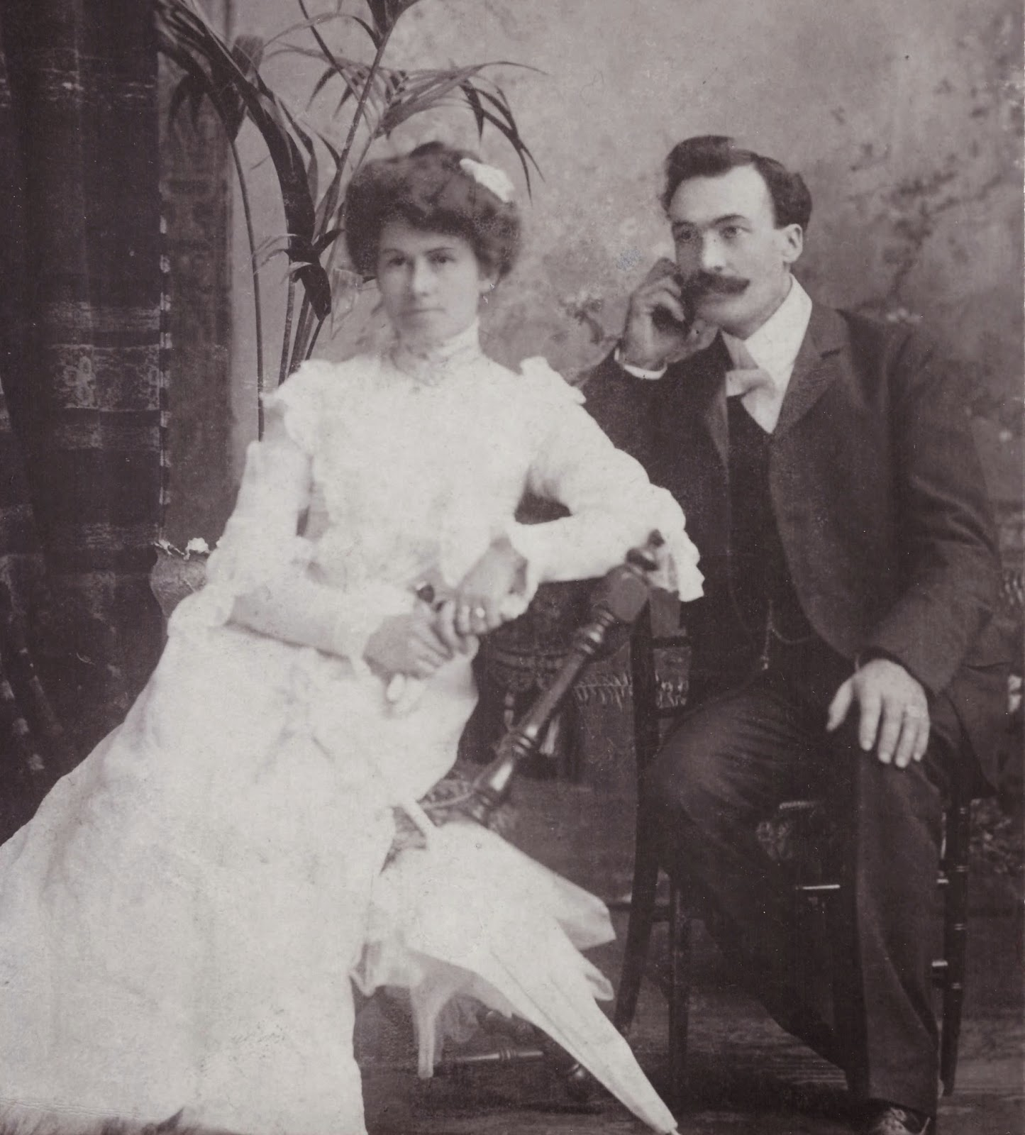 Photo of Mary and William Larkin, the builders and first occupants of the future Whispers pub. William Larkin was also responsible for the construction of several brick homes in the Westboro area as well, according to his grandchildren.