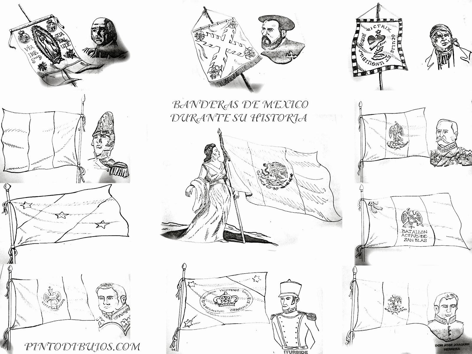 Día de la Bandera de México – dibujo para colorear – 24 de febrero