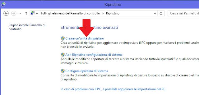 Creare disco o usb di ripristino di windows 8 - Creare finestra popup ...