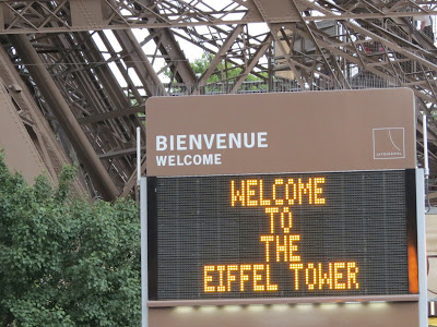 Welcome to The Eiffel Tower, La Tour Eiffel, Paris, France www.thebrighterwriter.blogspot.com