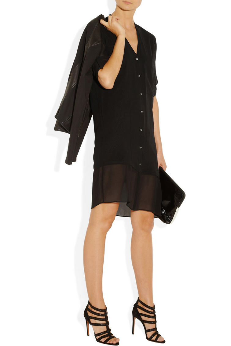 Helmut Lang Silk Voile Dress