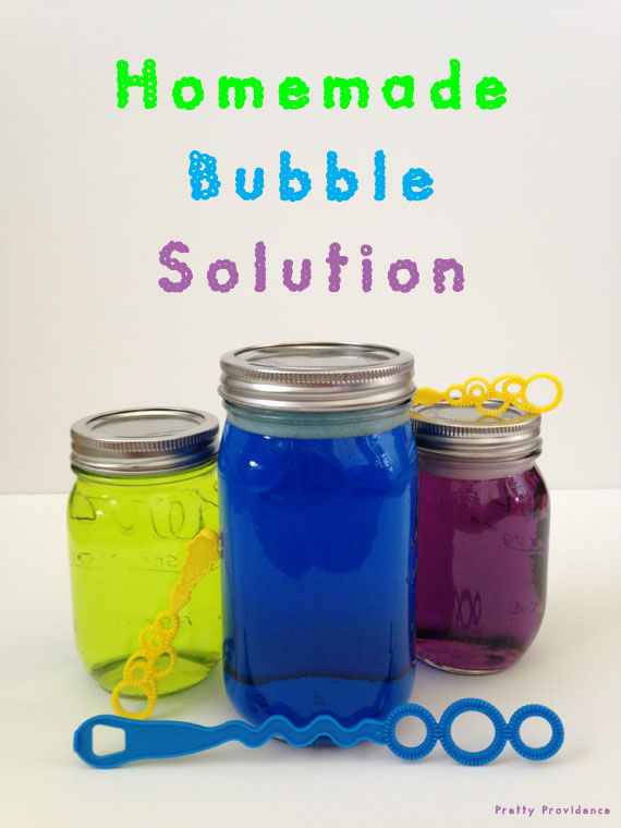 homemade bubble solution pretty providence