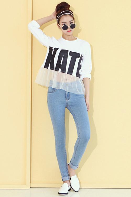 Dabagirl Simple Denim Skinny Jeans | KSTYLICK - Latest Korean Fashion | K-Pop Styles | Fashion ...