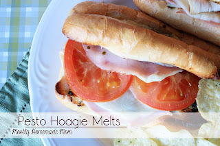... day more tomato pesto love from mostly homemade mom pesto hoagie melts