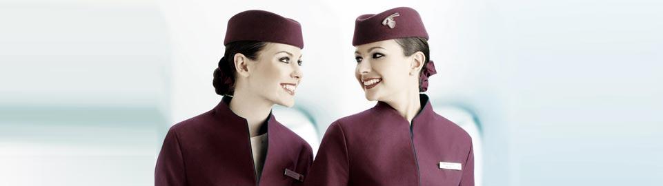 Fly Gosh Qatar Airways Cabin Crew Flight Attendant