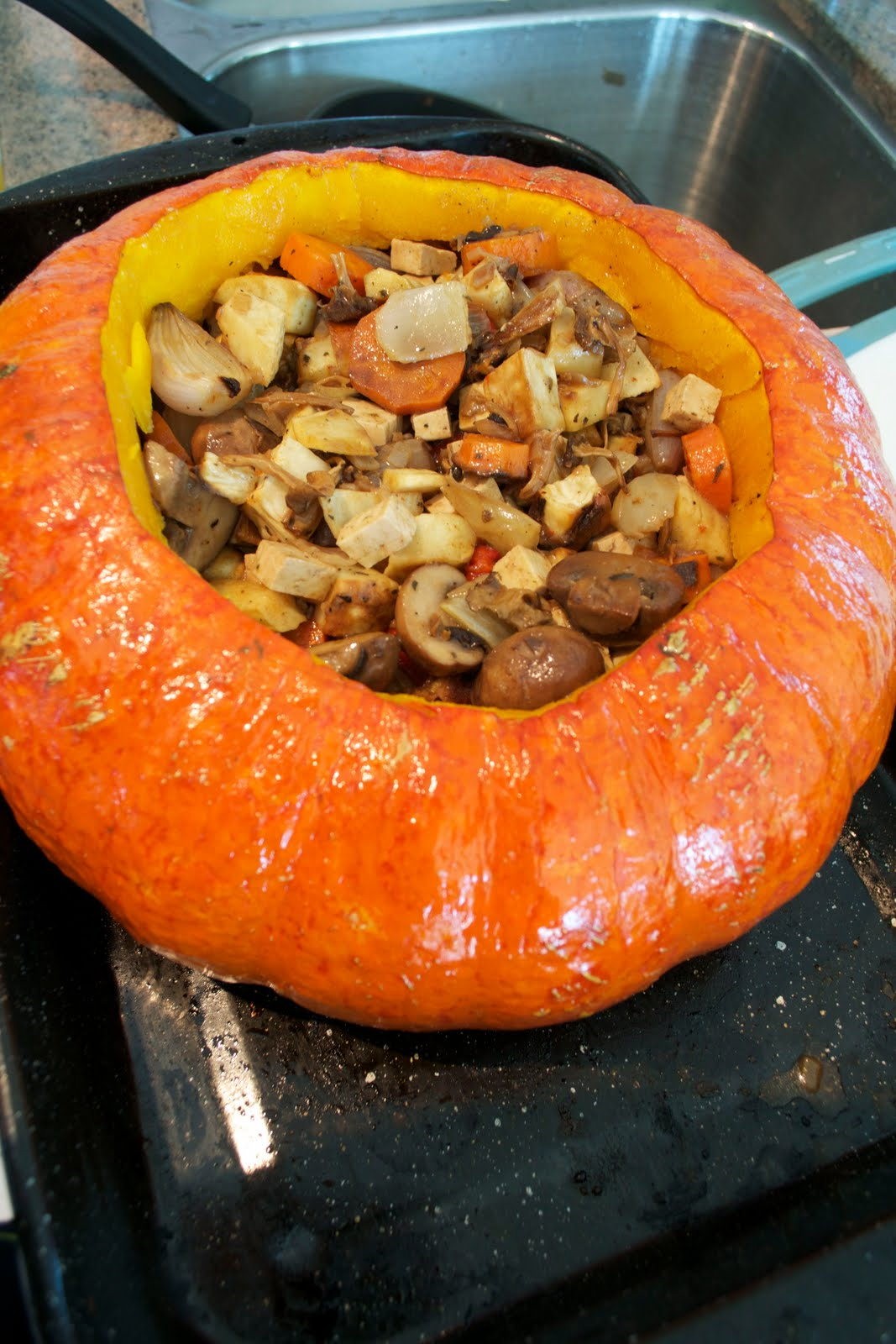 Equal Opportunity Kitchen: Pumpkin Stuffed Vegetable Stew