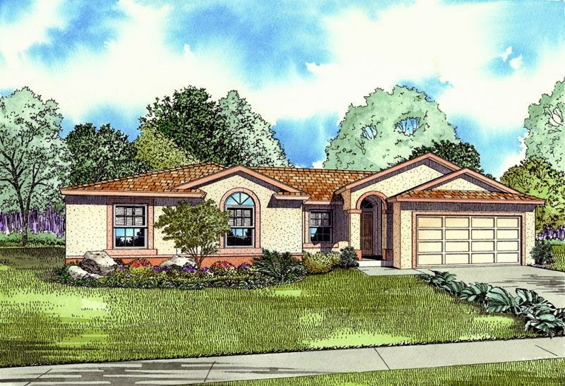 House Plans Mediterranean and SpanishOne Story Spanish Style House