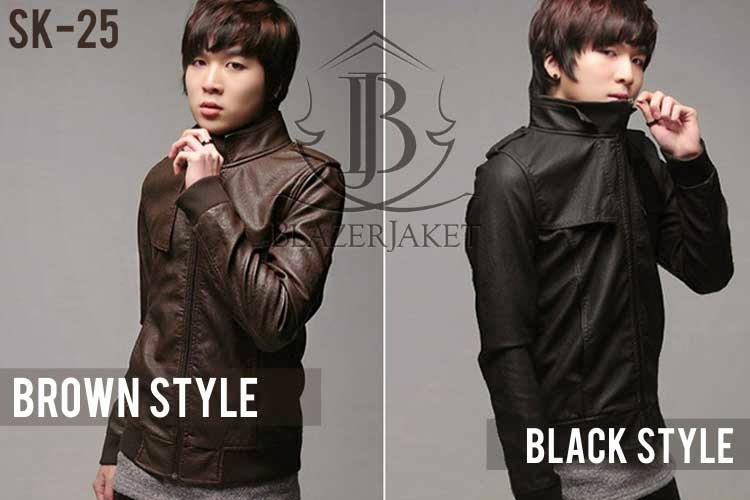 Jaket Kulit Black Brown Korean Style jaketblazer blazerjaket blazer
