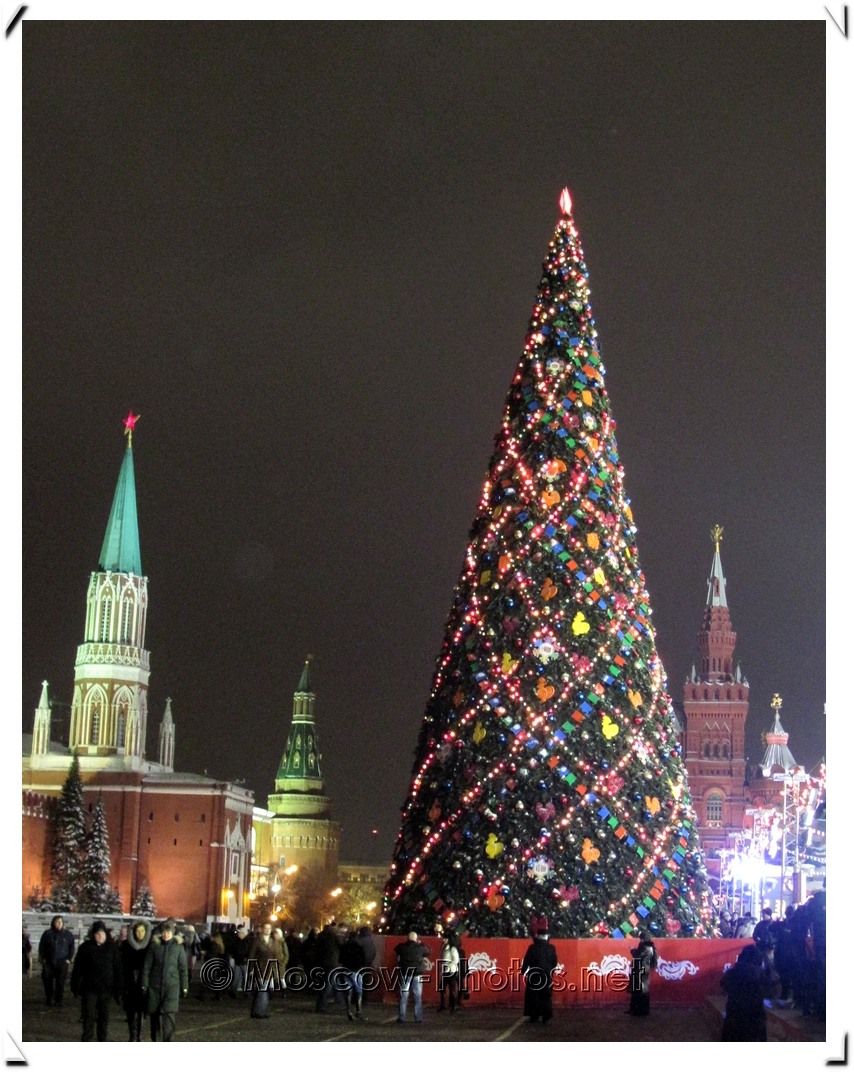 Moscow. Red Square. Christmas Tree.