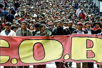 la Central Obrera Boliviana no desperdicia el tiempo. volvió a las calles con toda fuerza