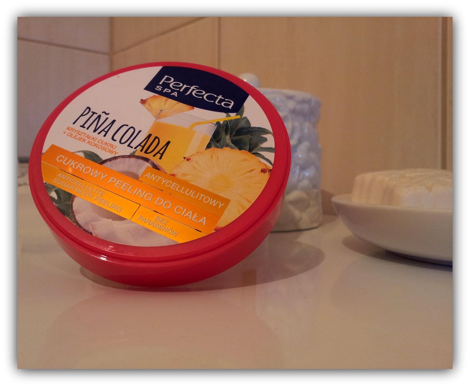 Wakacyjna współpraca z Perfecta SPA ~ Recenzja Cukrowego peelingu do ciała o zapachu Pinacolada