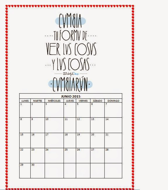 Capaz o incapaz calendario 2015 mr wonderful for Calendario junio 2016 para imprimir
