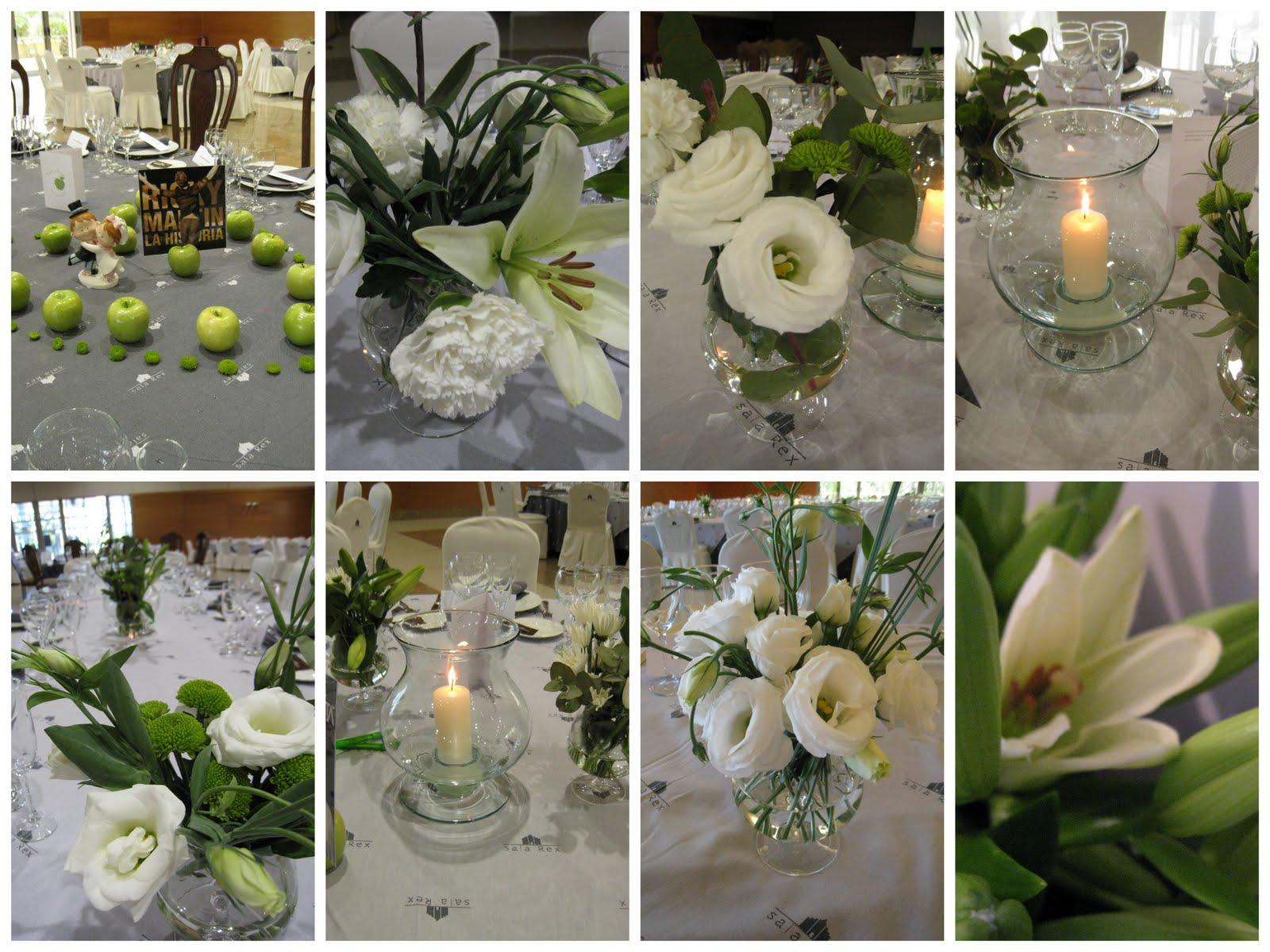 Cosas con encanto boda con decoraci n en color verde y - Arreglos florales para bodas ...