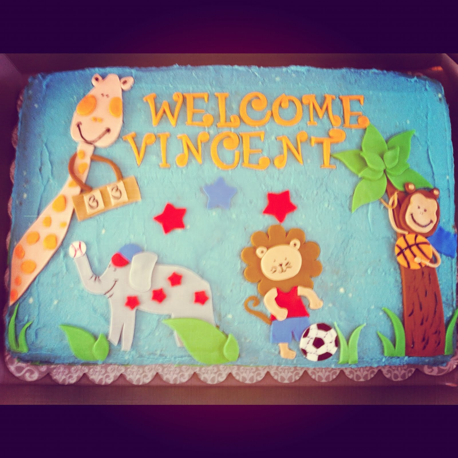 Stoked on Cake Jungle Baby Shower
