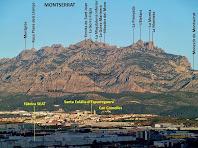 Zoom a Montserrat des de la Torre del Clos