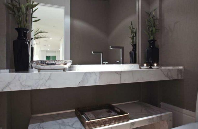 30 Lavabos pequenos e modernos  veja dicas de como ousar e decorar!  Decor  -> Banheiro Pequeno Spa