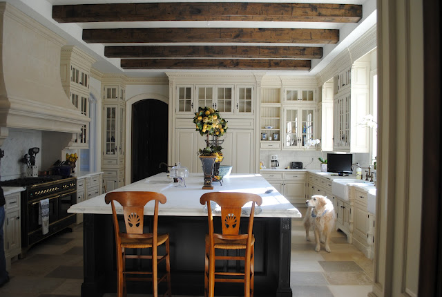 Our french inspired home rustic ceiling beams old world for Decorative beams in kitchen