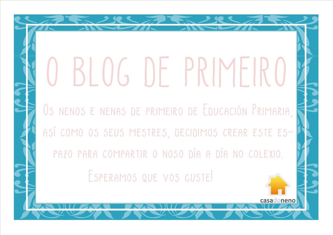 O blog de Primeiro