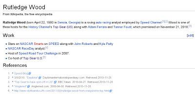 Rutledge Wood Wikipedia Page Top Gear USA